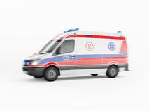 Ambulance emergency on a white background. 3D rendering Stock Image