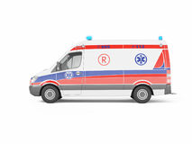 Ambulance emergency on a white background. 3D rendering Stock Photo