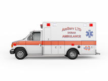 Ambulance emergency on a white background. 3D rendering Stock Images