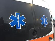 Ambulance EMT Emergency Medical Transport Service stock photo