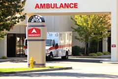 Ambulance Entrance Royalty Free Stock Images