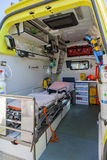 Ambulance and equipment views from inside Royalty Free Stock Photos