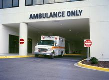 Ambulance at ER Stock Photos