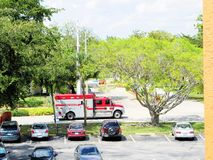Ambulance fire engine in Florida Royalty Free Stock Image