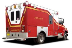 Ambulance Fire Rescue Truck Royalty Free Stock Images