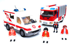 Ambulance fire truck Stock Photos