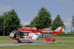 Ambulance helicopter stock images