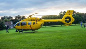 Ambulance helicopter in Bedford Park royalty free stock photos