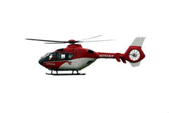 Ambulance helicopter Stock Photo