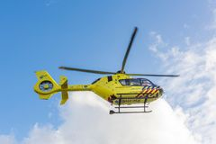 Ambulance Helicopter. Medical Air Assistance. AMSTERDAM, NETHERLANDS - SEPTEMBER 25, 2017: 112 Ambulance Helicopter. ANWB Medical Air Assistance MAA from stock photography