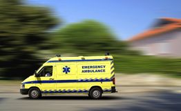 Ambulance at high speed Royalty Free Stock Image