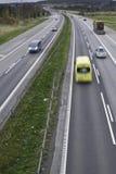 Ambulance on the highway Stock Image