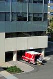 Ambulance at hospital Stock Photo