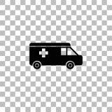Ambulance icon flat stock illustration