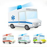 Ambulance icons Royalty Free Stock Photo