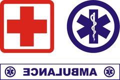 Ambulance icons Royalty Free Stock Photos
