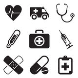 Ambulance Icons Royalty Free Stock Image