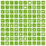 100 ambulance icons set grunge green. 100 ambulance icons set in grunge style green color isolated on white background vector illustration Royalty Free Illustration