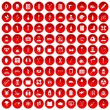 100 ambulance icons set red. 100 ambulance icons set in red circle isolated on white vectr illustration stock illustration