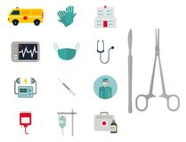 Ambulance icons vector  Stock Images
