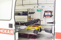 Ambulance inside Stock Photo