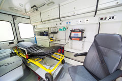 Ambulance inside Stock Photo