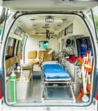 Ambulance inside Stock Photography
