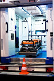 Ambulance Interior stock images