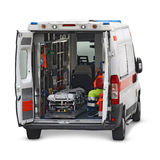 Ambulance interior cutout Royalty Free Stock Image