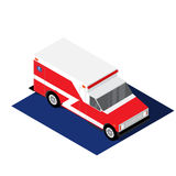 Ambulance isometric vector illustration. Of  on a white background Stock Image