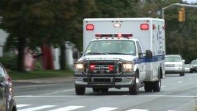 Ambulance with lights flashing (2 of 3)