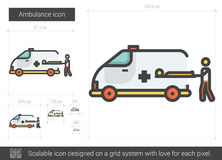 Ambulance line icon. Stock Image