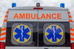 Ambulance. Logo of care on a white background Royalty Free Stock Photography