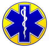 Ambulance. Logo of care on a white background Stock Photo