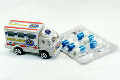 Ambulance and Medicine Royalty Free Stock Photography