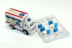 Ambulance and Medicine Royalty Free Stock Photography