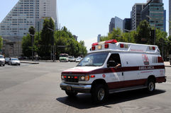 Ambulance in Mexico City stock photography