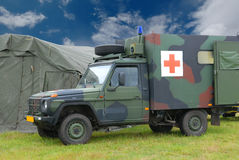 Ambulance militaire Photos libres de droits