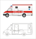 Ambulance mini bus Royalty Free Stock Images
