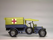 Ambulance Model. A miniature model of an old ambulance stock photos