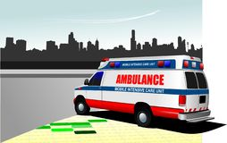 Ambulance moderne illustration libre de droits