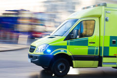Ambulance in motion Stock Photo