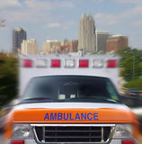 Ambulance motion Royalty Free Stock Photo