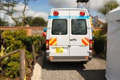 Ambulance  in Nairobi Kenya. Ambulance Nairobi Kenya on service during organized events such as social gatherings, corporate events Stock Photography