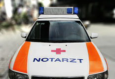 Ambulance (Notarzt). The ambulance car in Germany (Notarzt) With clipping npath Royalty Free Stock Images