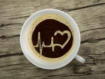 Ambulance offers coffee Royalty Free Stock Image