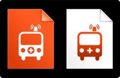 Ambulance on Paper Set Royalty Free Stock Photography