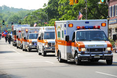 Ambulance Parade Stock Photo