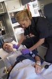 ambulance paramedic patient Στοκ Εικόνες