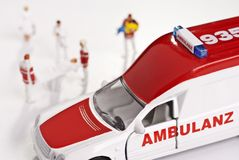 Ambulance and Paramedics Royalty Free Stock Photo